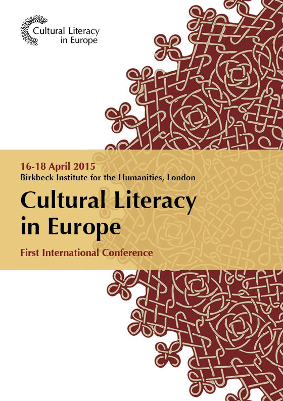 Cultural Literacy in Europe 16-18 April 2015