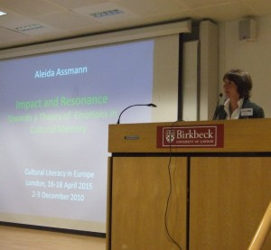 CLE conference Aleida Assmann 18 April