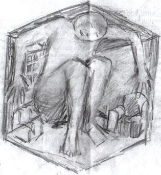 Being in the consulting room 1, Drawing by D. Wright
